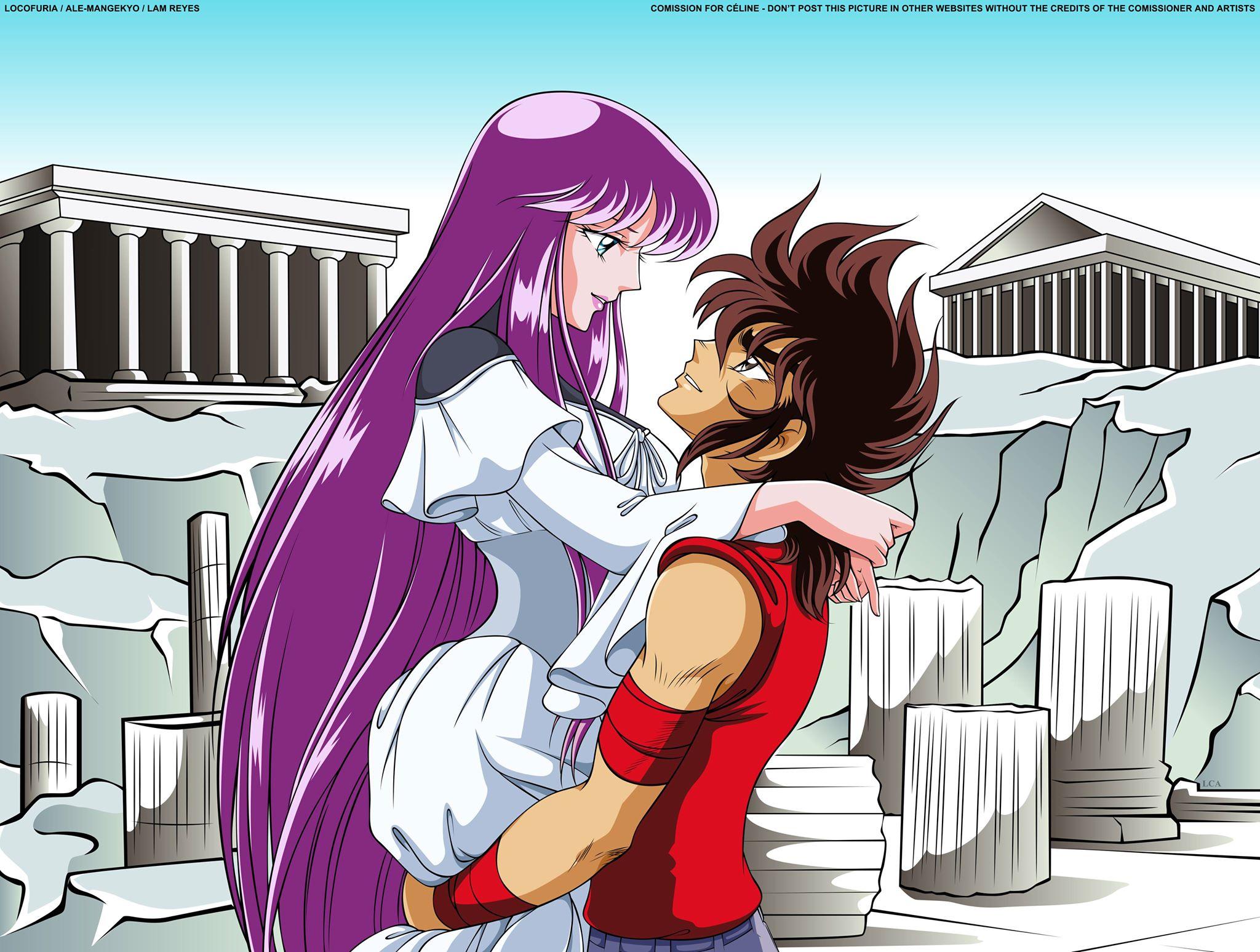 Seiya and Saori
