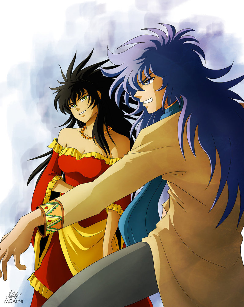 Saint Seiya, Scorpio Kardia and Calvera