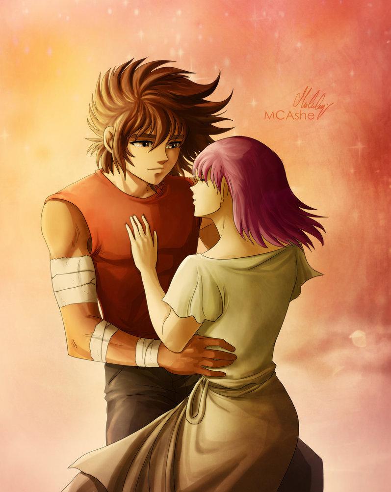 Seiya and Saori by MCAshe