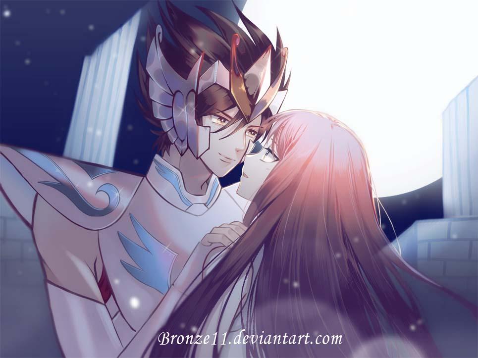 Seiya and Saori by bronze11