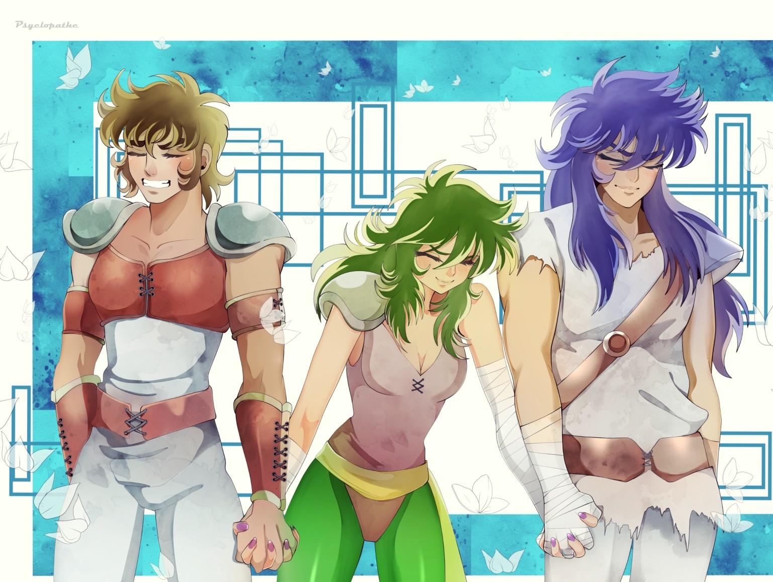 Aiolia, Shaina and Milo