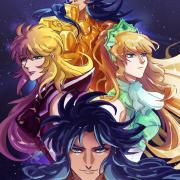 Gemini Saga x Northern Crown Katya (Saintia Sho) + Gemini Kanon x Mermaid Thetis