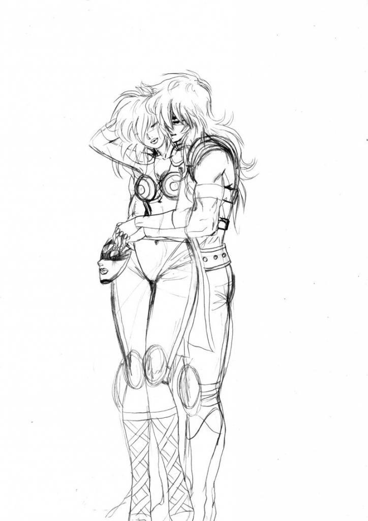 Scorpio Milo and Ophiuchus Shaina