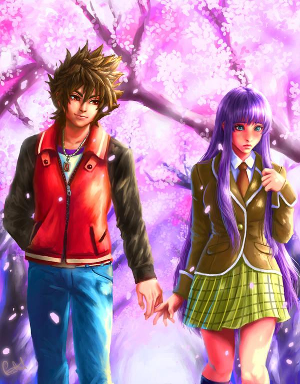 Seiya and Saori by MistressAinley