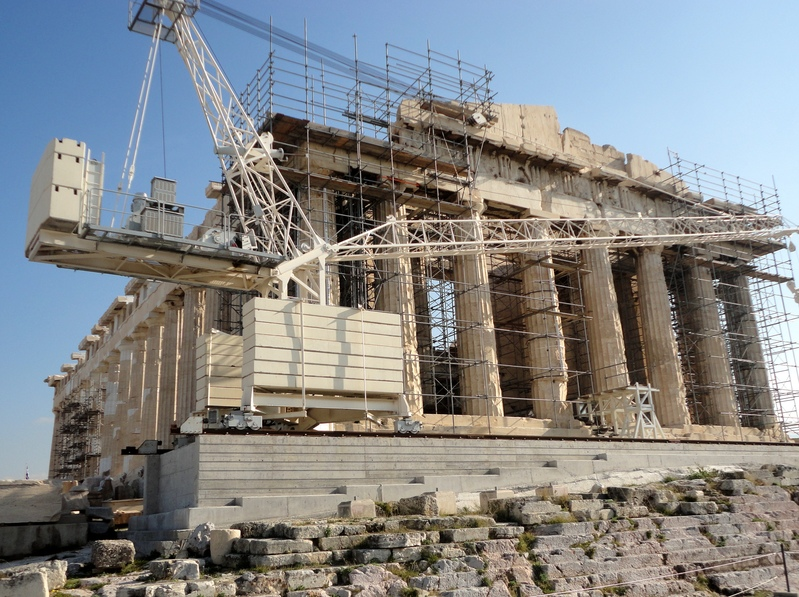 Athenes parthenon travaux