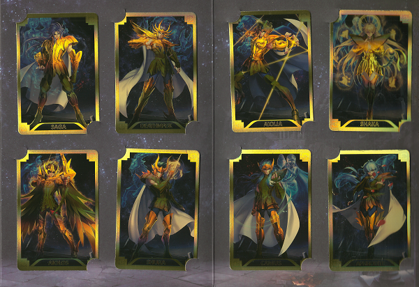 Saint seiya enveloppe 6 dernieres cartes de golds
